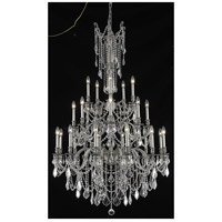 Elegant Lighting Rosalia 25 Light Foyer in Pewter with Elegant Cut Clear Crystal 9225G38PW/EC