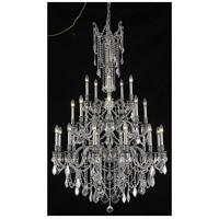 Elegant Lighting 9225G38PW/EC Rosalia 25 Light 38 inch Pewter Foyer Ceiling Light in Clear Elegant Cut