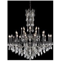 Elegant Lighting Rosalia 32 Light Foyer in Dark Bronze with Elegant Cut Clear Crystal 9232G48DB/EC