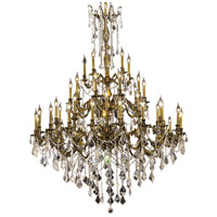 Rosalia 45 Light 54 inch Antique Bronze Foyer Ceiling Light in Clear, Swarovski Strass