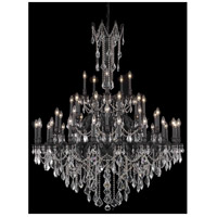 Elegant Lighting Rosalia 45 Light Foyer in Dark Bronze with Elegant Cut Clear Crystal 9245G54DB/EC
