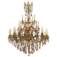 Elegant Lighting Rosalia 45 Light Foyer in French Gold with Royal Cut Golden Teak Crystal 9245G54FG-GT/RC