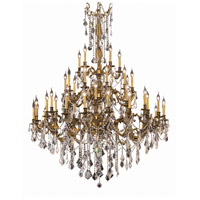 Elegant Lighting Rosalia 45 Light Foyer in French Gold with Elegant Cut Clear Crystal 9245G54FG/EC