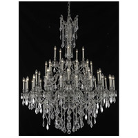 Rosalia 45 Light 54 inch Pewter Foyer Ceiling Light in Clear, Royal Cut