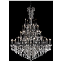 Elegant Lighting Rosalia 55 Light Foyer in Dark Bronze with Elegant Cut Clear Crystal 9255G64DB/EC