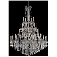 Elegant Lighting 9255G64PW/SS Rosalia 55 Light 64 inch Pewter Foyer Ceiling Light in Swarovski Strass
