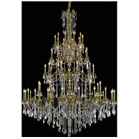 Elegant Lighting Rosalia 60 Light Foyer in Antique Bronze with Elegant Cut Clear Crystal 9260G72AB/EC