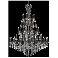 Elegant Lighting Rosalia 60 Light Foyer in Dark Bronze with Elegant Cut Clear Crystal 9260G72DB/EC