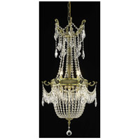 Elegant Lighting Esperanza 6 Light Dining Chandelier in Antique Bronze with Elegant Cut Clear Crystal 9306D18AB/EC