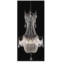 Elegant Lighting Esperanza 6 Light Dining Chandelier in Dark Bronze with Swarovski Strass Clear Crystal 9306D18DB/SS