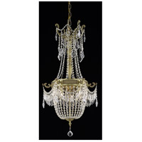 Elegant Lighting Esperanza 6 Light Dining Chandelier in French Gold with Swarovski Strass Clear Crystal 9306D18FG/SS
