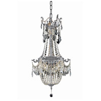 Elegant Lighting 9306D18PW/RC Esperanza 6 Light 18 inch Pewter Dining Chandelier Ceiling Light in Royal Cut