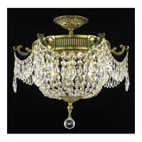 Elegant Lighting Esperanza 6 Light Flush Mount in Antique Bronze with Swarovski Strass Clear Crystal 9306F18AB/SS
