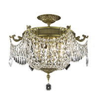 Elegant Lighting Esperanza 6 Light Flush Mount in French Gold with Spectra Swarovski Clear Crystal 9306F18FG/SA alternative photo thumbnail