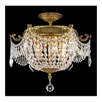 Elegant Lighting Esperanza 6 Light Flush Mount in French Gold with Swarovski Strass Clear Crystal 9306F18FG/SS