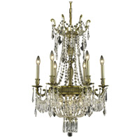 Elegant Lighting Esperanza 9 Light Dining Chandelier in Antique Bronze with Swarovski Strass Clear Crystal 9309D22AB/SS
