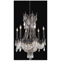Elegant Lighting Esperanza 9 Light Dining Chandelier in Dark Bronze with Elegant Cut Clear Crystal 9309D22DB/EC