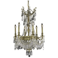 Elegant Lighting Esperanza 9 Light Dining Chandelier in French Gold with Swarovski Strass Clear Crystal 9309D22FG/SS