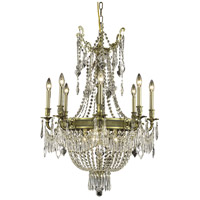 Elegant Lighting Esperanza 12 Light Dining Chandelier in Antique Bronze with Elegant Cut Clear Crystal 9312D26AB/EC