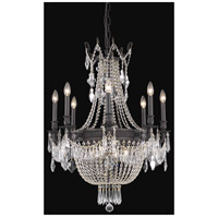 Elegant Lighting Esperanza 12 Light Dining Chandelier in Dark Bronze with Swarovski Strass Clear Crystal 9312D26DB/SS