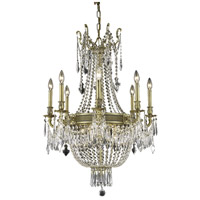 Elegant Lighting Esperanza 12 Light Dining Chandelier in French Gold with Royal Cut Clear Crystal 9312D26FG/RC