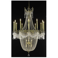 Elegant Lighting Esperanza 22 Light Foyer in Antique Bronze with Swarovski Strass Clear Crystal 9322G40AB/SS
