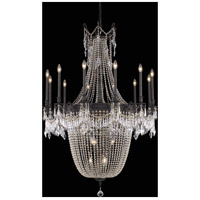 Elegant Lighting Esperanza 22 Light Foyer in Dark Bronze with Royal Cut Clear Crystal 9322G40DB/RC