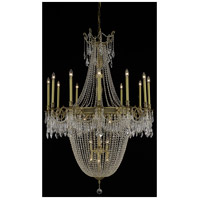 Elegant Lighting Esperanza 22 Light Foyer in French Gold with Elegant Cut Clear Crystal 9322G40FG/EC