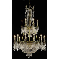 Elegant Lighting Esperanza 27 Light Foyer in Antique Bronze with Elegant Cut Clear Crystal 9327G41AB/EC
