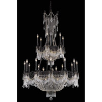 Elegant Lighting Esperanza 27 Light Foyer in Dark Bronze with Royal Cut Clear Crystal 9327G41DB/RC