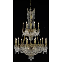 Elegant Lighting Esperanza 27 Light Foyer in French Gold with Elegant Cut Clear Crystal 9327G41FG/EC