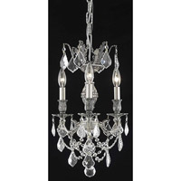 Elegant Lighting Marseille 3 Light Pendant in Pewter with Royal Cut Clear Crystal 9503D13PW/RC