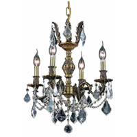 Elegant Lighting 9504D17AB/SA Marseille 4 Light 17 inch Antique Bronze Dining Chandelier Ceiling Light in Clear, Spectra Swarovski alternative photo thumbnail