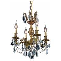 Elegant Lighting Marseille 4 Light Dining Chandelier in French Gold with Royal Cut Clear Crystal 9504D17FG/RC alternative photo thumbnail