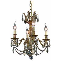 Elegant Lighting Marseille 4 Light Dining Chandelier in French Gold with Royal Cut Golden Teak Crystal 9504D17FG-GT/RC alternative photo thumbnail