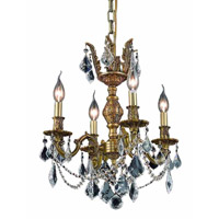 Elegant Lighting Marseille 4 Light Dining Chandelier in French Gold with Royal Cut Clear Crystal 9504D17FG/RC