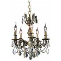 Elegant Lighting Marseille 5 Light Dining Chandelier in Antique Bronze with Royal Cut Golden Shadow Crystal 9505D18AB-GS/RC alternative photo thumbnail