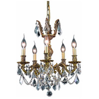 Elegant Lighting Marseille 5 Light Dining Chandelier in French Gold with Royal Cut Clear Crystal 9505D18FG/RC alternative photo thumbnail