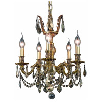 Elegant Lighting Marseille 5 Light Dining Chandelier in French Gold with Royal Cut Golden Teak Crystal 9505D18FG-GT/RC alternative photo thumbnail
