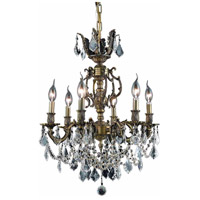 Elegant Lighting Marseille 6 Light Dining Chandelier in Antique Bronze with Swarovski Strass Golden Shadow Crystal 9506D20AB-GS/SS alternative photo thumbnail