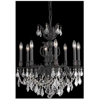 Elegant Lighting Marseille 8 Light Dining Chandelier in Dark Bronze with Elegant Cut Clear Crystal 9508D24DB/EC