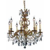 Elegant Lighting Marseille 8 Light Dining Chandelier in French Gold with Royal Cut Clear Crystal 9508D24FG/RC