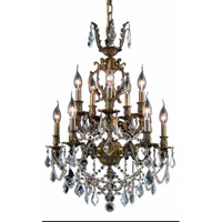 Elegant Lighting 9510D21AB/SS Marseille 10 Light 21 inch Antique Bronze Dining Chandelier Ceiling Light in Clear, Swarovski Strass  alternative photo thumbnail