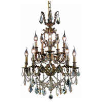 Elegant Lighting 9510D21AB-GS/SS Marseille 10 Light 21 inch Antique Bronze Dining Chandelier Ceiling Light in Golden Shadow, Swarovski Strass alternative photo thumbnail