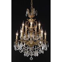 Elegant Lighting Marseille 10 Light Dining Chandelier in French Gold with Spectra Swarovski Clear Crystal 9510D21FG/SA