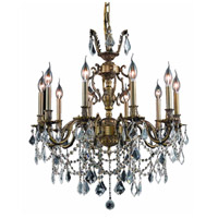 Elegant Lighting 9510D28AB/SA Marseille 10 Light 28 inch Antique Bronze Dining Chandelier Ceiling Light in Clear, Spectra Swarovski alternative photo thumbnail