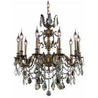 Elegant Lighting Marseille 10 Light Dining Chandelier in Antique Bronze with Royal Cut Golden Shadow Crystal 9510D28AB-GS/RC alternative photo thumbnail