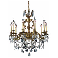 Elegant Lighting 9510D28FG/RC Marseille 10 Light 28 inch French Gold Dining Chandelier Ceiling Light in Clear, Royal Cut alternative photo thumbnail
