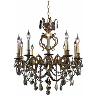 Elegant Lighting Marseille 10 Light Dining Chandelier in French Gold with Swarovski Strass Golden Teak Crystal 9510D28FG-GT/SS alternative photo thumbnail