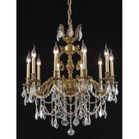 Elegant Lighting Marseille 10 Light Dining Chandelier in French Gold with Royal Cut Clear Crystal 9510D28FG/RC
